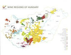 Map of the Wine Regions of Hungary
