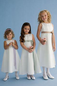 Us Angels Flower Girl dress 305 White/Perry Blue 18 months Flower Girls, Yellow Flower Girl Dresses, Princess Line, Princess Seam, Little Princess, Angel Dress, Thing 1, Dresses For Less, Matte Satin