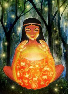 Goddess of love ✨ Image Positive, Spiritual Images, Pagan Art, Spirited Art, Sacred Feminine, Goddess Art, Visionary Art, Sacred Art, Psychedelic Art