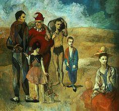 Pablo Picasso- A Família de Saltimbancos, também conhecida como Os Saltimbancos é a obra-chave da fase rosa