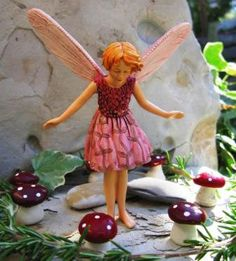 Our Wild Thyme Fairy demonstrates the magical properties of a fairy mushroom ring.