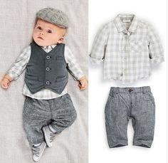 3 Pc Boys Vest, Shirt & Pant Set