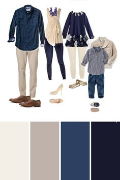 pictures outdoor picture outfits colors family cream best navy blue for and in Best Colors for Outdoor Family Pictures Family Picture outfits in navy cream and blueYou can find Family photo outfits and more on our website