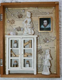 Romeo and Juliet shadowbox for Valentine's Day~ Decor To Adore.