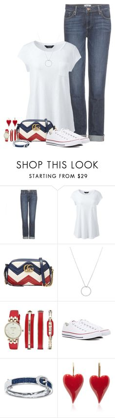 """Untitled #349"" by jessy-james83 ❤ liked on Polyvore featuring Paige Denim, Lands' End, Gucci, Roberto Coin, Anne Klein, Converse and plus size clothing"