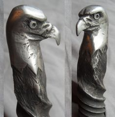 Bald Eagle Hand-Forged Knife Antique Railroad by RailroadSpikeArt