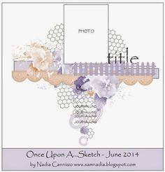 13 pasji by Ayeeda: Once Upon a Sketch June challenge with Flying Unicorn KOM Scrapbook Patterns, Scrapbook Layout Sketches, Scrapbook Templates, Card Sketches, Photo Album Scrapbooking, Scrapbook Albums, Scrapbooking Layouts, Scrapbook Cards, Diy Handmade Album