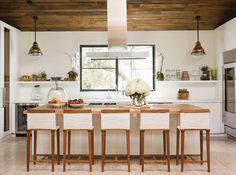 Inside Jenni Kayne's beautiful home. Isn't this kitchen so light and fantastic?!