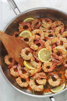 Garlic and lemon shrimp, quick recipe mins) Quick Recipes, Healthy Recipes, French Toast Bake, Healthy Drinks, Entrees, The Best, Good Food, Food And Drink, Minimum