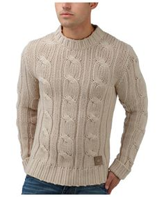 Joe Browns Fishermans Cable Crew - chunky hand knit effect make for a classic timless piece.