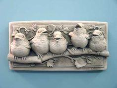 Baby Birds Plaque - Carruth Studio...I have the one with just 3 babies I got from my dear friend Marcia