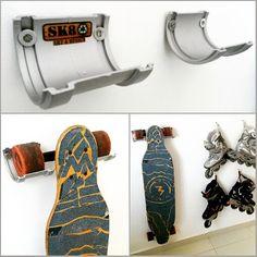 Suporte para Skates. Support for Skateboards.