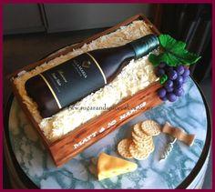 Villa Maria Pinot Noir Wine Box Cake  by Mel_SugarandSpiceCakes - http://cakesdecor.com/cakes/252518-villa-maria-pinot-noir-wine-box-cake