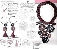 Brown necklace with diagram - what you see here