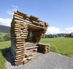 When seven internationally acclaimed architects design sculptural bus stops for a tiny Austrian village