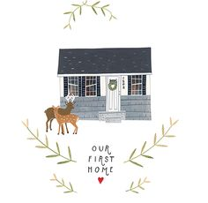 """our first home"" illustration by Rebekka Seale"