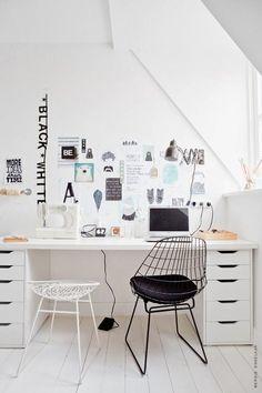 beautiful b&w workspace / kim van rosseberg / photographer ernie enkelaar, 101 woonideeen