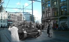 The Hague, The Netherlands | 9 Haunting Then-And-Now Photos Of World War II Europe -- created by Jo Teuwisse