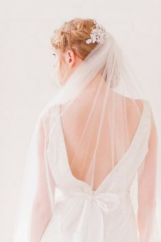 Lace Back Veil - Posh Veils