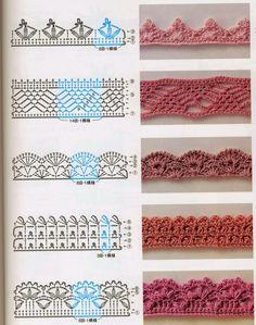 Ivelise Feito à Mão: Pequenos Barradinhos De Crochê.borders