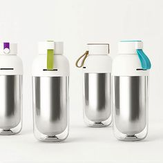 Capsule shaped metal water bottle that holds of hot and cold drink. Certification: CIQ Bottle Mouth: Round Shape: With Rope Anti-corrosion Coating Water Flowing Method: Direct Drinking Metal Type: Stainless Steel Top Water Bottles, Water Bottle Design, Glass Bottles, Id Design, Capsule, Stainless Steel Water Bottle, Drinking Tea, Drinkware, Industrial Design