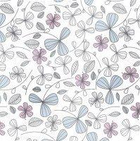 0993 Servilleta decorada flores