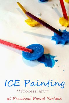 Ice Painting! Super easy step by step instructions for this super fun process art!!