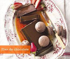 Postres fáciles: Flan de chocolate - Receta