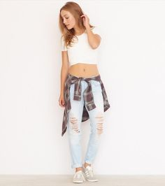 Ribbed Cropped Tee