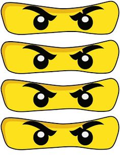 High-quality PNG printables - NinjaGo Eyes Prints Free NinjaGo Party Printables 8 different sizes, 300 DP. Lego Ninjago Cake, Ninjago Party, Ninja Birthday Parties, Watermelon Birthday Parties, Happy Birthday, Festa Ninja Go, Deco Lego, Ninja Cake, Lego Themed Party