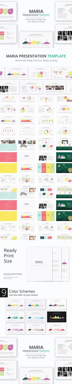Maria Presentation Template. Business Infographic