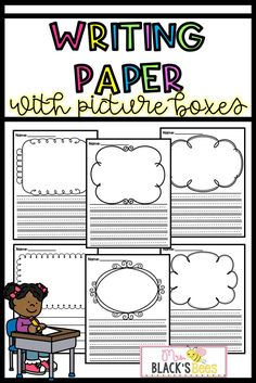This writing paper is perfect for the Kindergarten, first, or second grade classroom. Each paper comes with a picture box for students to draw their illustration and lines for writing. These pages are great for displaying students' writing on a classroom door or bulletin board. These writing pages can also be compiled into a journal or book.