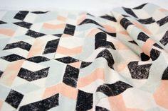 'Solsken' pattern designed by Melbourne textile designer Bree Ellett. 2013