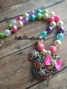 Ready to sell Bright pastel Easter minnie by BellaStoneBoutique