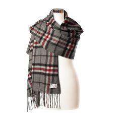 Coral//Pink Edinburgh 100/% Lambswool Luxury Scottish Tartan Scarf
