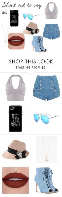 """""""Shout out to my ex"""" by peytondodson on Polyvore featuring Pierre Balmain, Casetify, Brunello Cucinelli, Full Tilt and Gianvito Rossi"""
