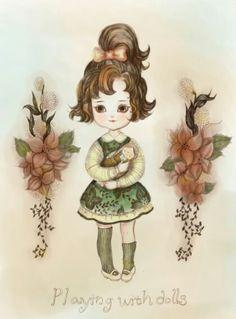 빈티지소녀 vintage girl - drawing by Sol Park