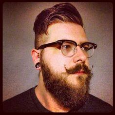 dat hair. dat beard. dat moustache.