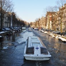 Cruising on the frozen canals