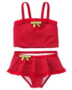 Cherry Bow Two-Piece Swimsuit
