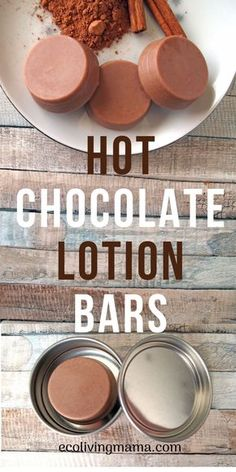 Hot Chocolate Lotion bars are super moisturizing and smell like your favorite ch. - Hot Chocolate Lotion bars are super moisturizing and smell like your favorite ch. Hot Chocolate Lotion bars are super moisturizing and smell like yo. Diy Lotion, Lotion Bars, Lotion En Barre, Homemade Soap Recipes, Beeswax Recipes, Easy Homemade Gifts, Diy Spa, Homemade Beauty Products, Beauty Recipe