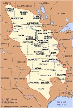 I Pinned This Map To Ilrate The Many Different Indian Tribes Across The Plains There Was A Large Territory That Occupied The Indians