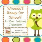 $6.00 This 124 page unit has everything you need to get your classroom started with a colorful, eye-catching owl theme!