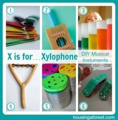 Cool Musical Instruments Crafts-DIY-Good ideas for Girl Scout Junior Musician Badge Preschool Music, Music Activities, Teaching Music, Preschool Crafts, Teaching Kids, Activities For Kids, Homemade Musical Instruments, Girl Scout Juniors, Music Crafts