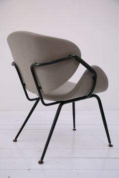 Olavi Kettunen ; Enameled Metal Armchair for Merivaara, 1950s.