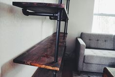 DIY Shelving Unit / Book Shelf Made from Pipes and Wood