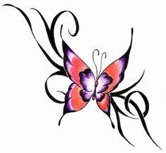 Modelo de desenho para tatuagem de borboleta