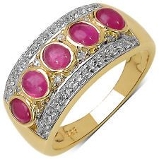 925 Sterling Silver 4x3 mm 1.60 ctw Oval Ruby White Topaz Ring