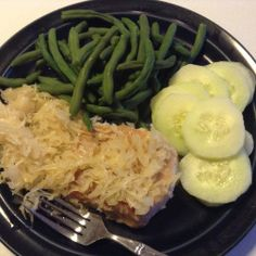 #Oktoberfest! Easy Baked Pork Chops with Sauerkraut One Simple Recipe! #favorite #easy #OvenRecipe #FixItAndForgetIt