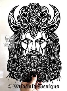 Vadim The Viking Ruler Norse God Paper Cutting Template for